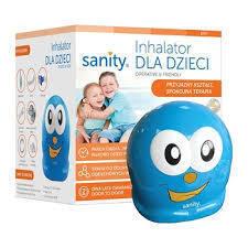Inhalator DLA DZIECI marki Sanity to wyrób medyczny zaprojektowany do terapii inhalacyjnych dzieci.